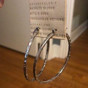 Silver Hoop Earrings from Anthropologie